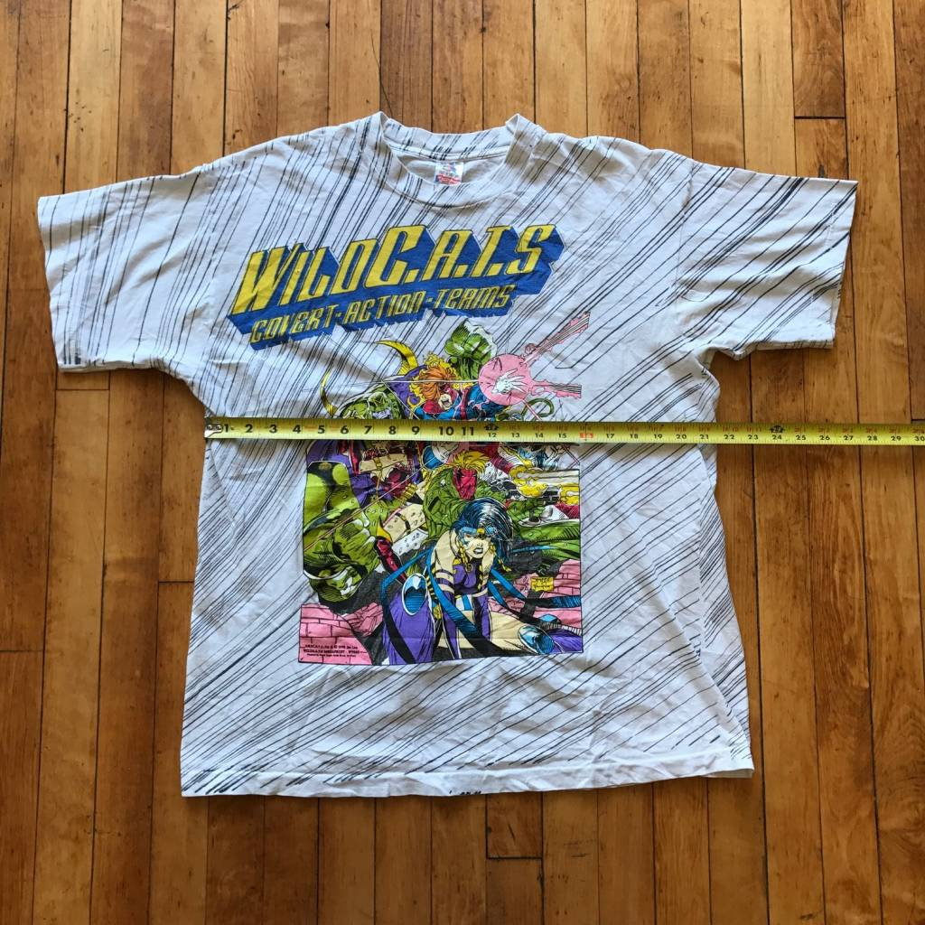 2ND BASE VINTAGE 1992 Jim Lee Wild C.A.T.S. Image Comics T-Shirt XL