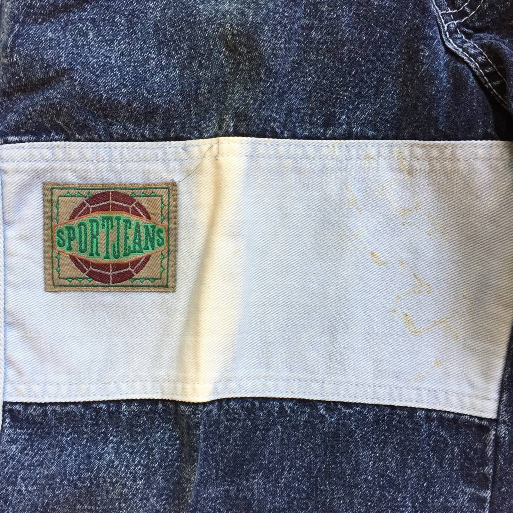 2ND BASE VINTAGE Levi Sport Cuffed Acid Wash Denim with side taping LG