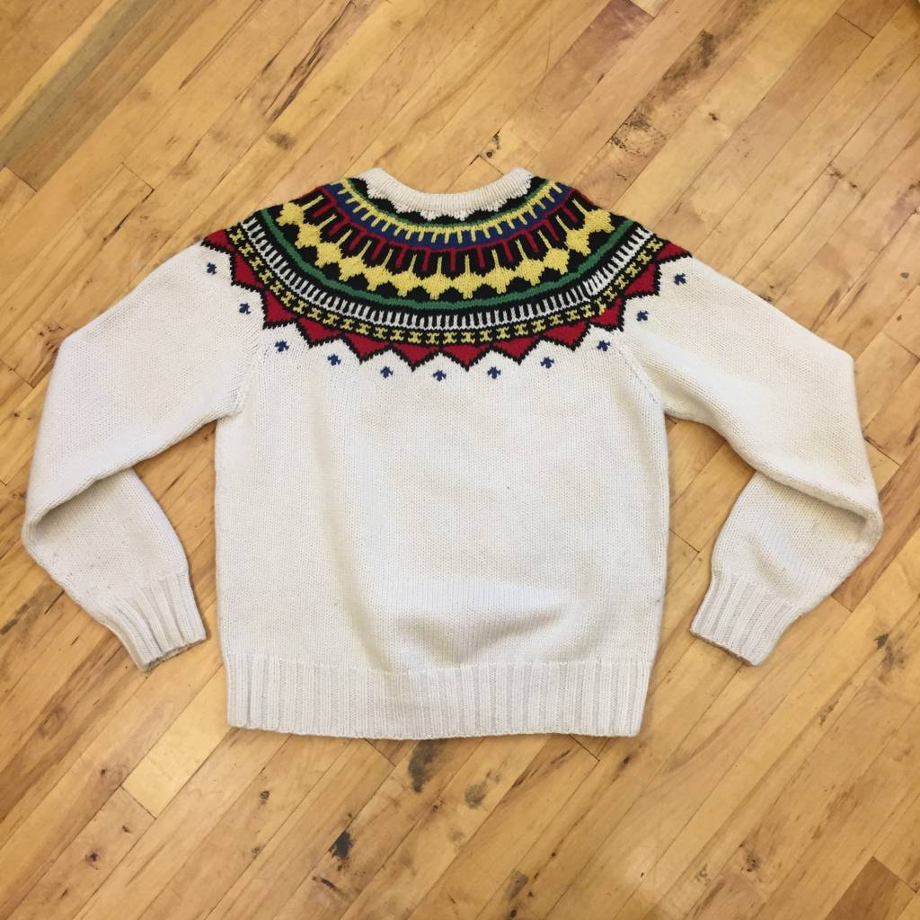 2ND BASE VINTAGE Polo Ralph Lauren Native American Knit Sweater XL