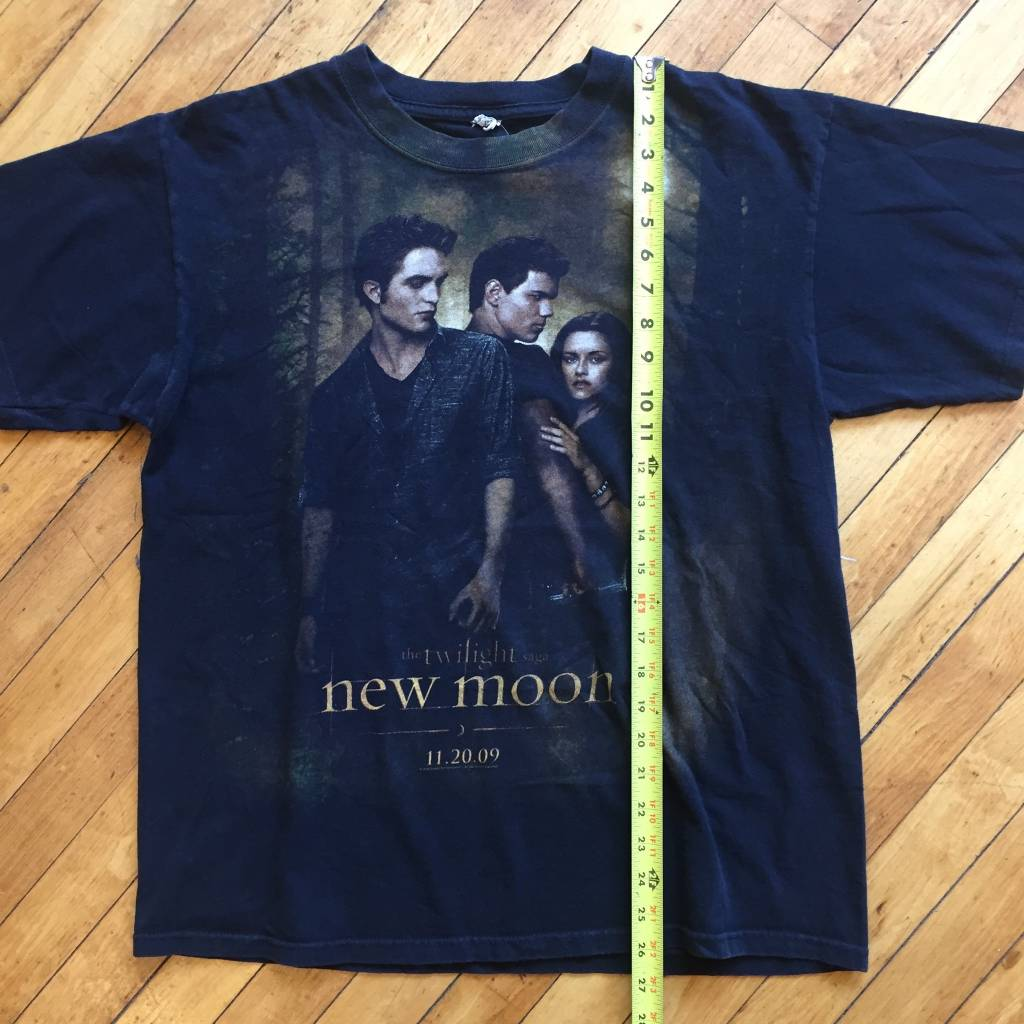 2ND BASE VINTAGE Twighlight New Moon movie Promo T-Shirt LG