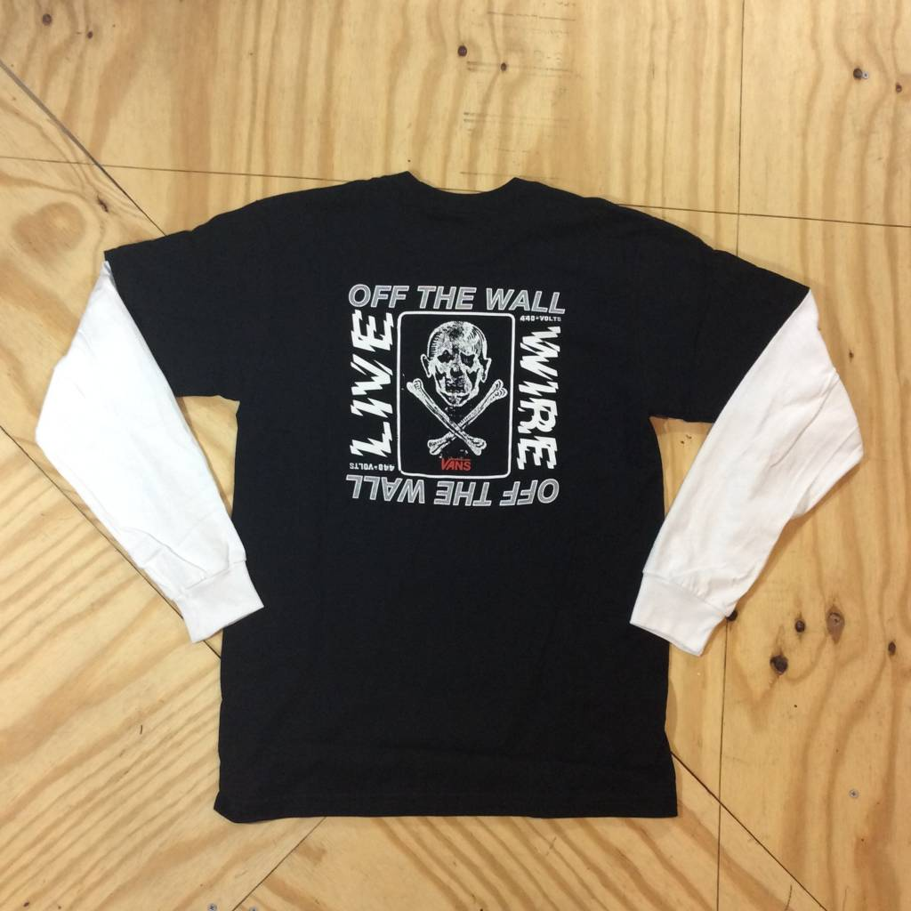 VANS Live Wire Double Layer LS T-Shirt Black / White