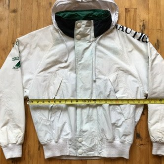 2ND BASE VINTAGE Nautica Challenge J-Class Sailing Jacket with Packable Hood MD