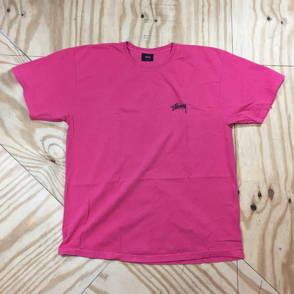 STUSSY Warrior Pig Dyed T-Shirt Rose Pink