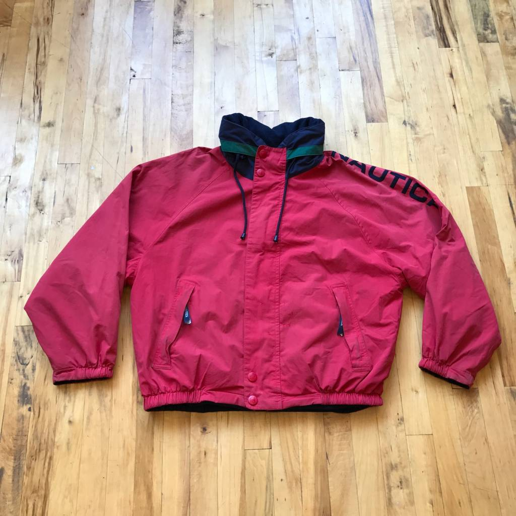 2ND BASE VINTAGE Nautica Sport Reversible Lined Sailing Jacket MD