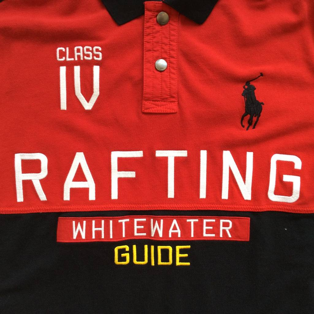 2ND BASE VINTAGE Polo Ralph Lauren Rafting Whitewater Guide Polo Shirt LG