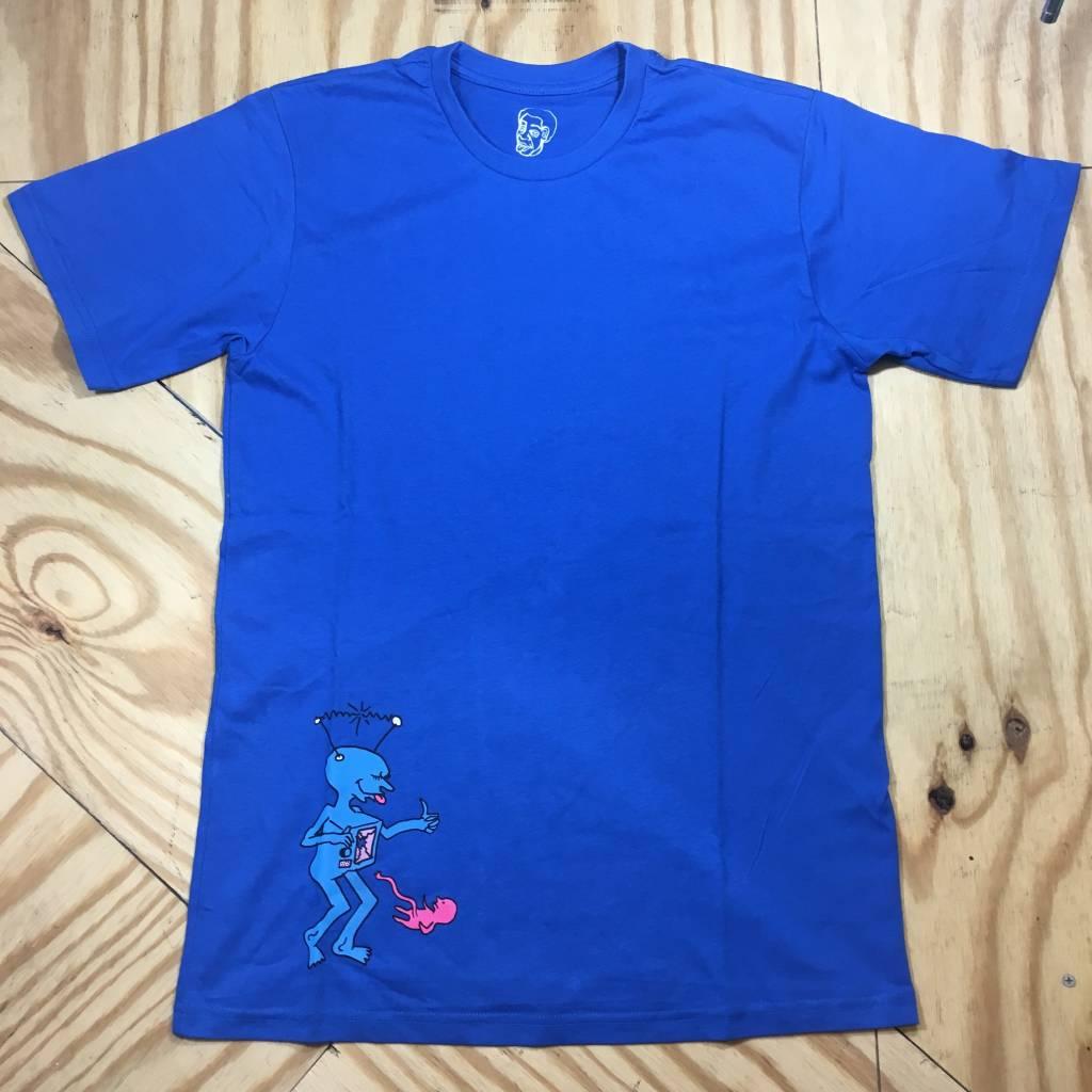 POLAR SKATE CO. Polar X Ron Chatman TV Kid T-Shirt Royal Blue