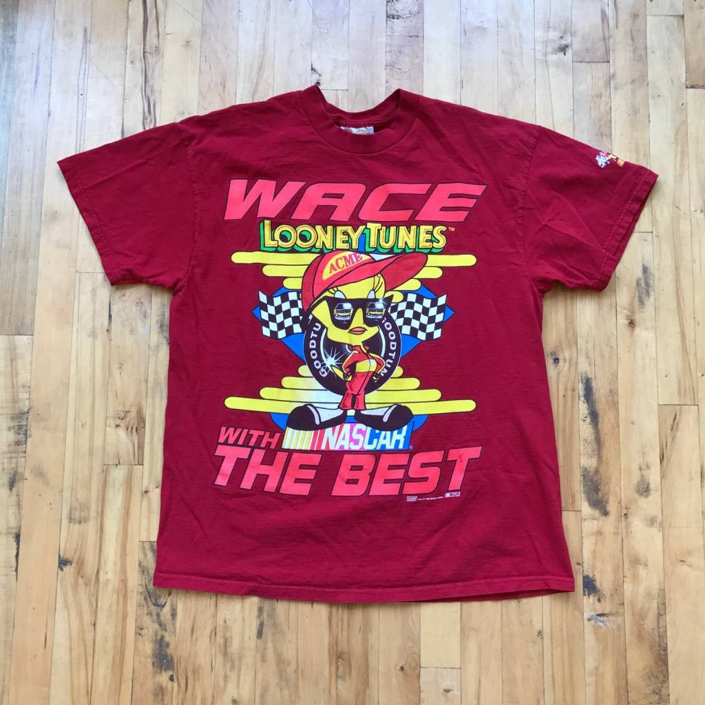 2ND BASE VINTAGE Looney Tunes x NASCAR Tweety Bird T-Shirt from 1998 LG/ XL (No Tag)