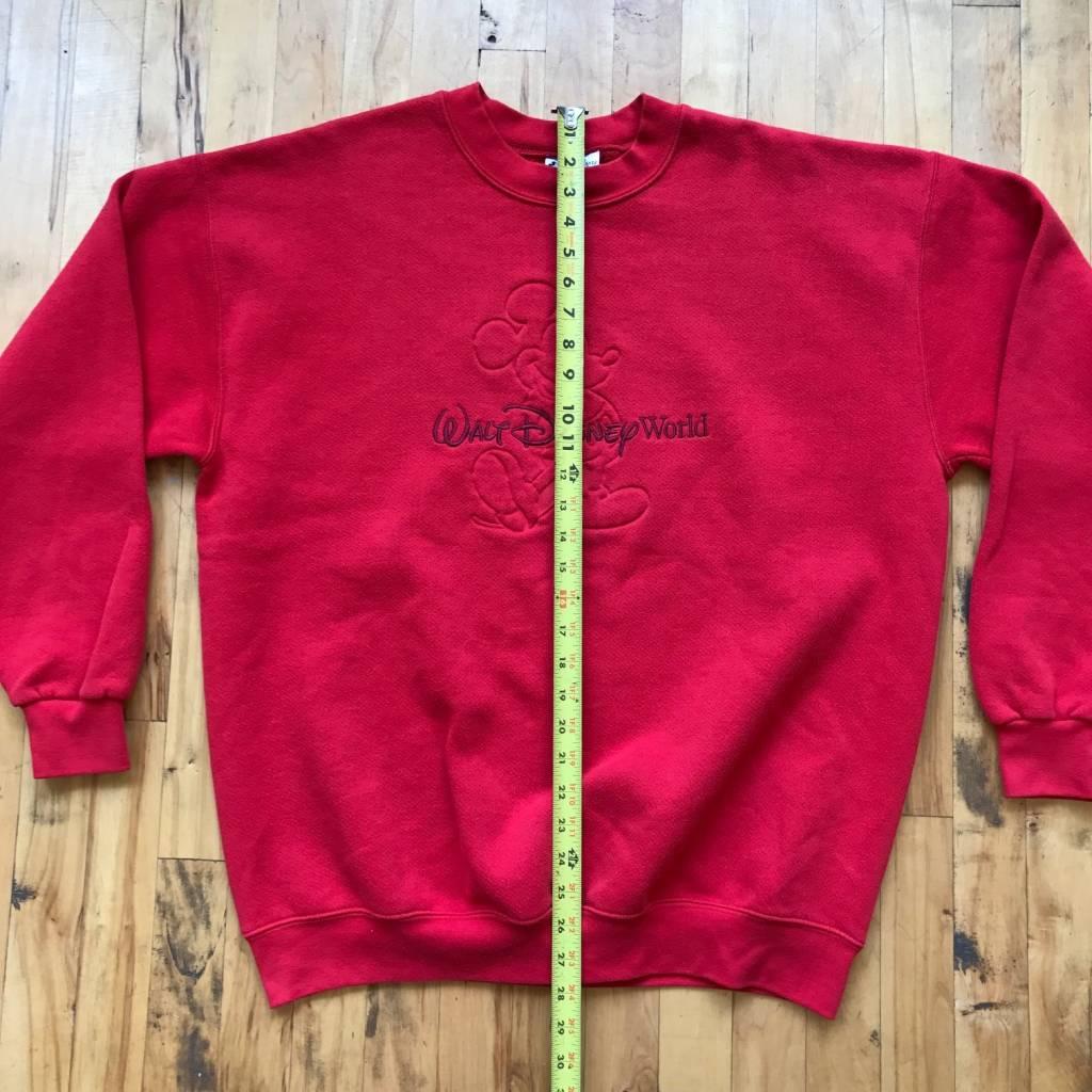 2ND BASE VINTAGE Walt Disney World Embossed & Embroidered Sweatshirt