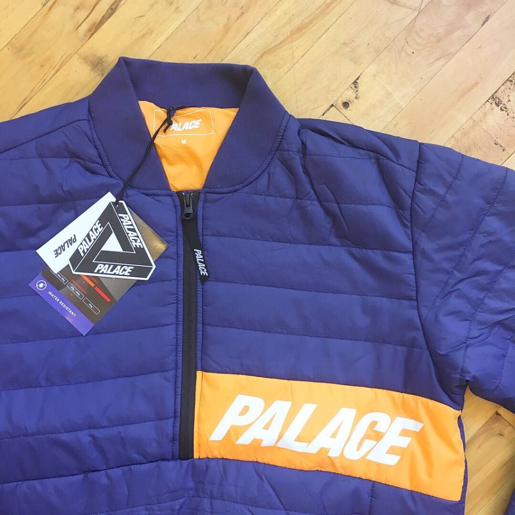 2ND BASE VINTAGE Palace Skateboards FW17 Half Zip Packer Jacket. Deadstock. MD