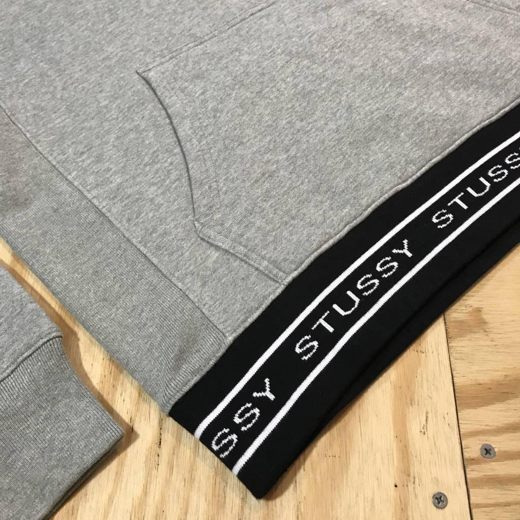 STUSSY Jacquard Rib Hoody Grey Heather