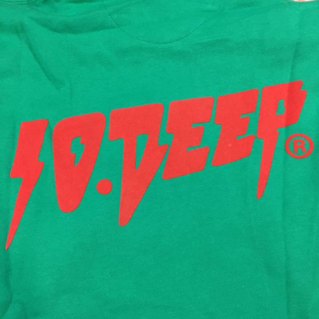10 DEEP S & F Hoody Green