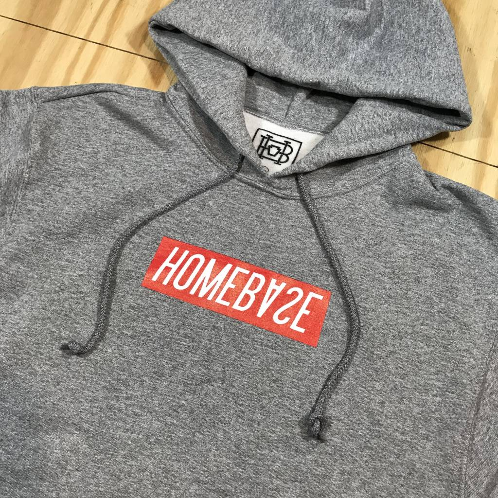 HOMEBASE SOFTGOODS Bar Logo Hoody Grey