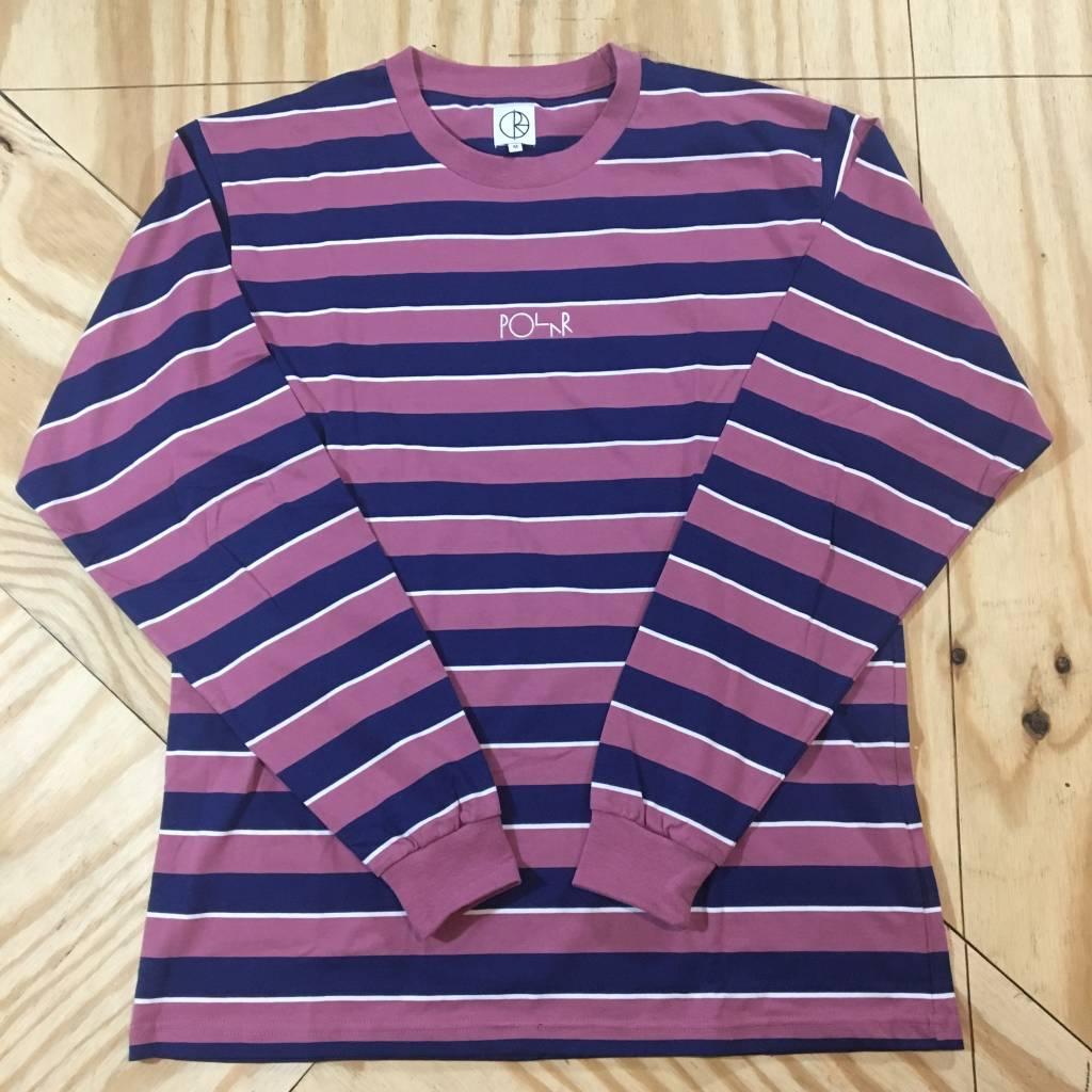 POLAR SKATE CO. Polar Striped Longsleeve LS T-Shirt Dusty Rose