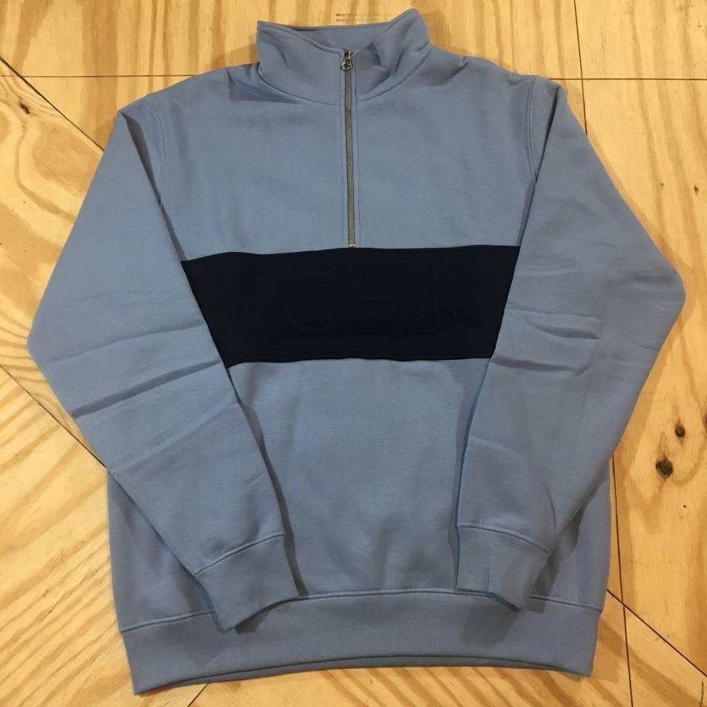 POLAR SKATE CO. Polar Block Zip Sweatshirt Dusty Blue Navy