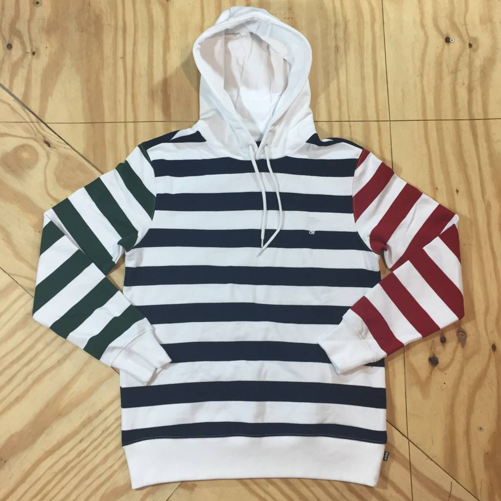 HUF Kennedy Striped Hoody White