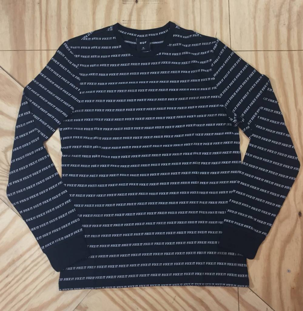 HUF Fuck It Jacquard LS T-Shirt Black