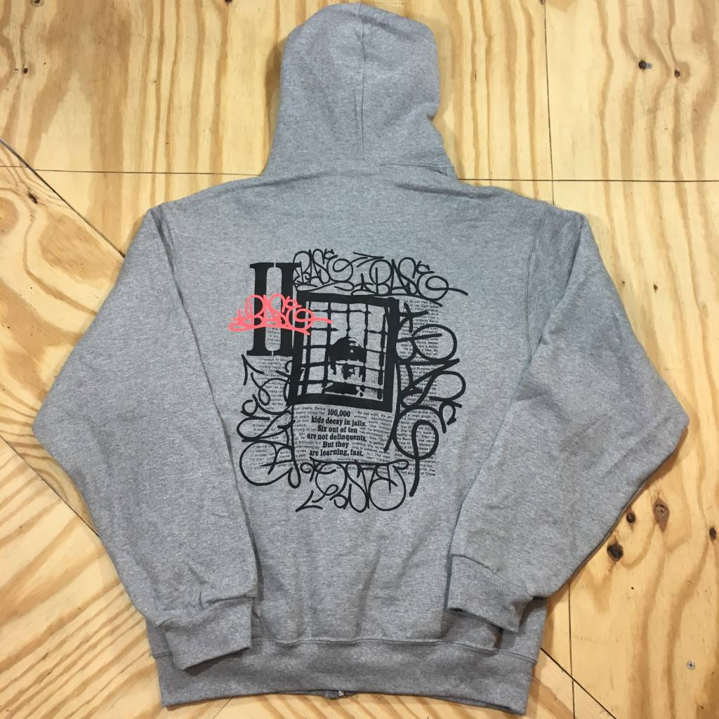 HOMEBASE SOFTGOODS HB Delinquents Zip Up Hoody Grey