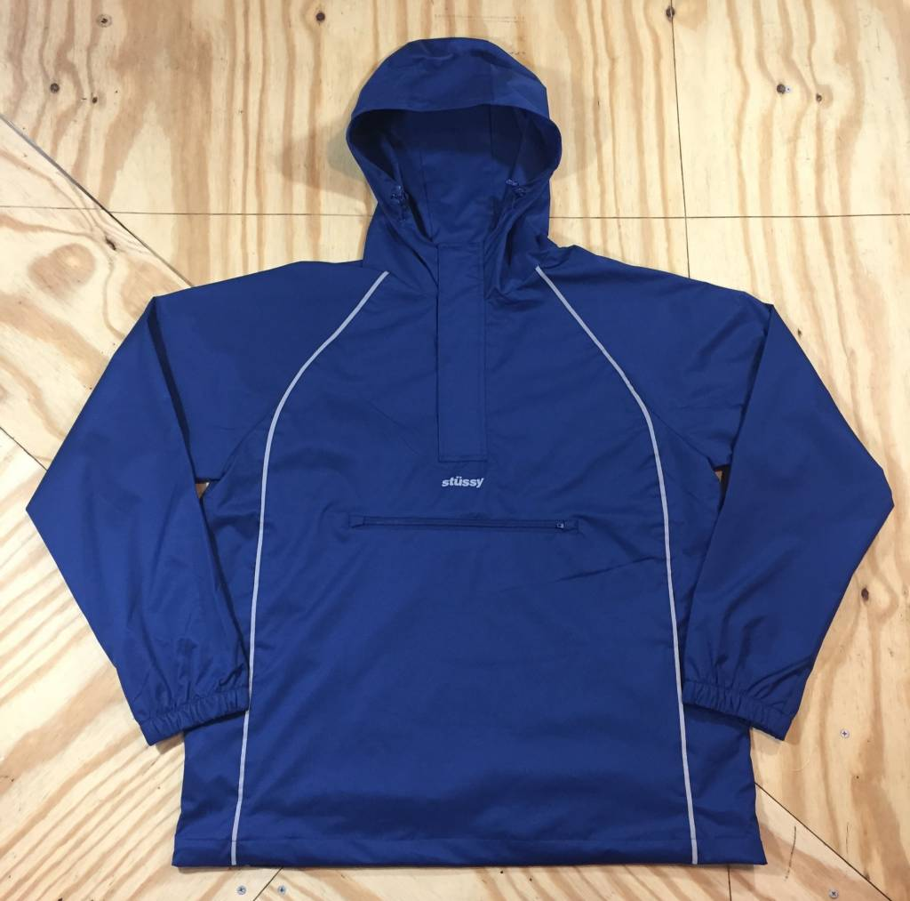 STUSSY 3M Piping Pullover Anorak Navy