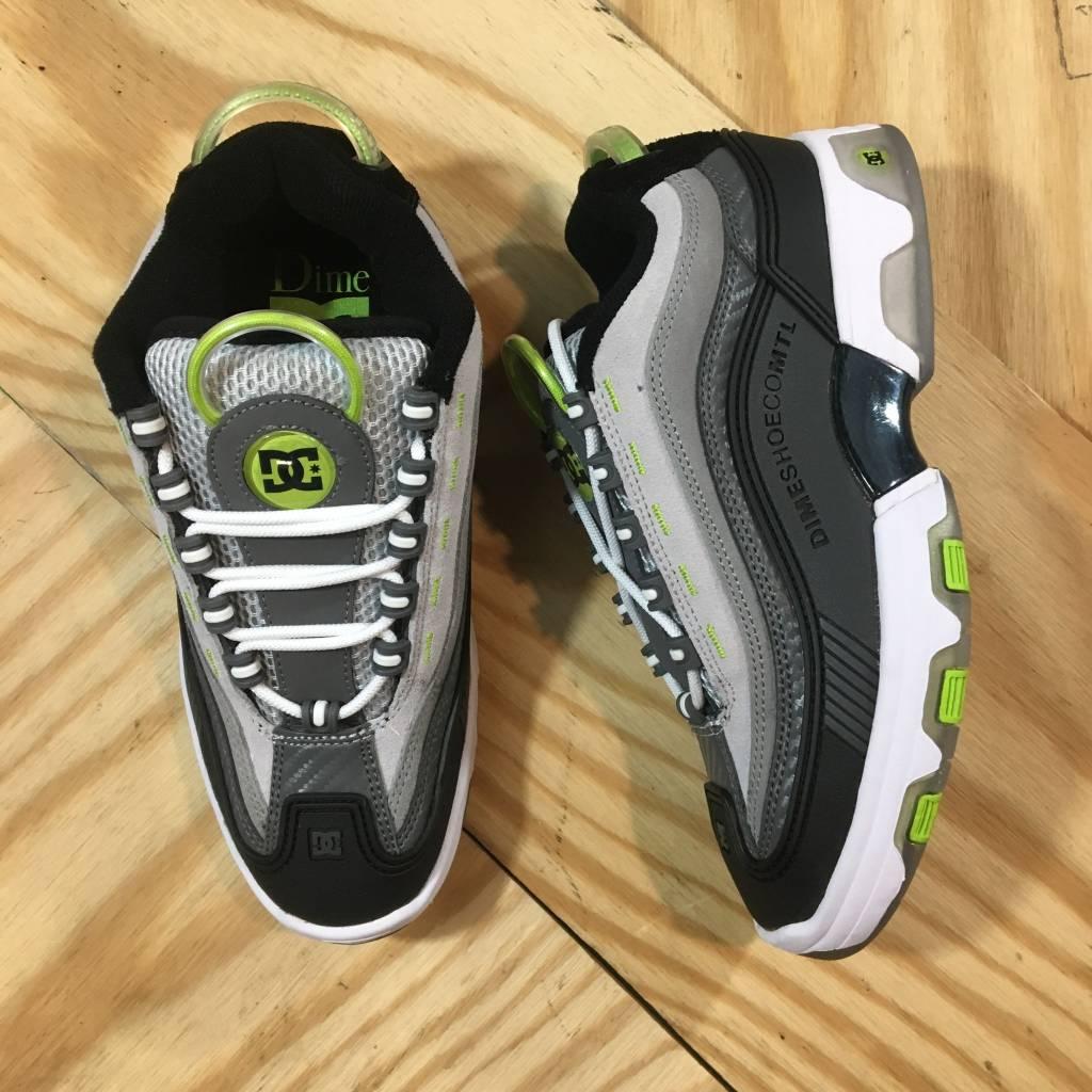 DC SKATE SHOE CO. Dime X DC Legacy Shoe Grey / Black / White