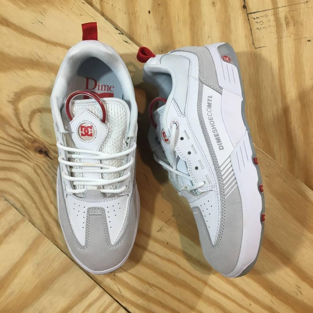 DC SKATE SHOE CO. Dime X DC Legacy S Shoe White / Red