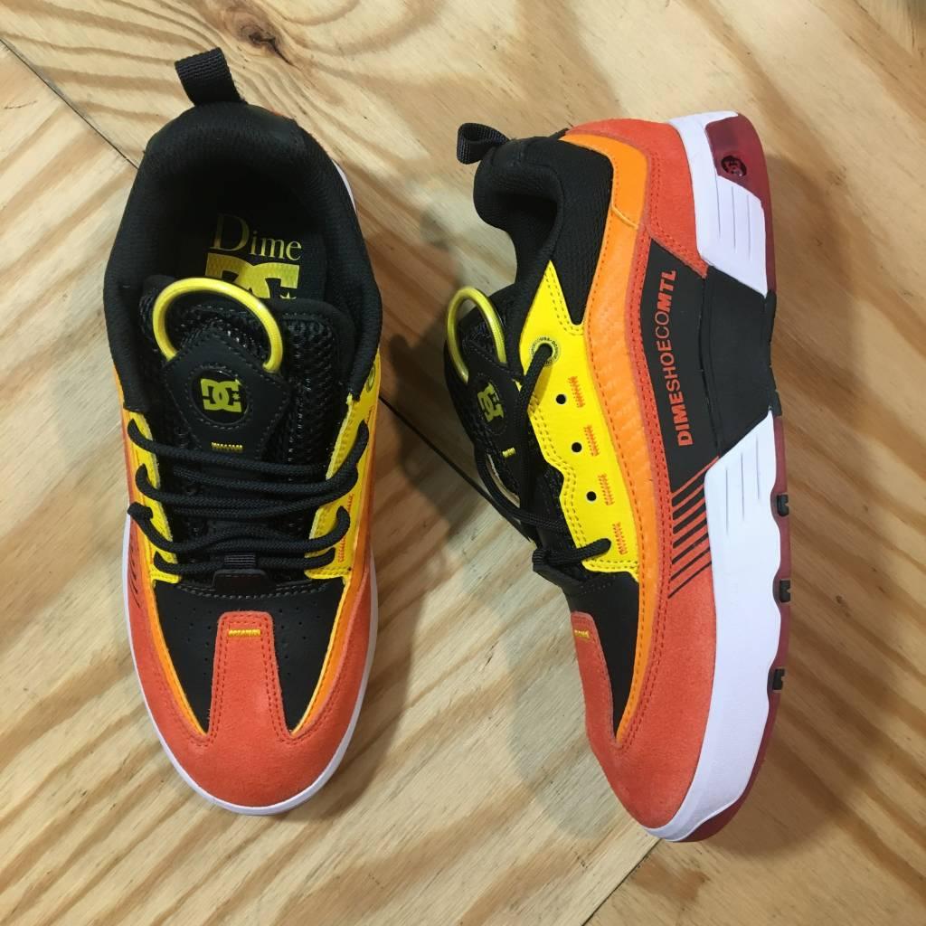 DC SKATE SHOE CO. Dime X DC Legacy S Shoe Red / Orange