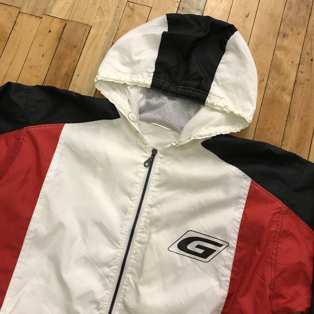 2ND BASE VINTAGE Guess Vertical Spell Out Track Jacket LG