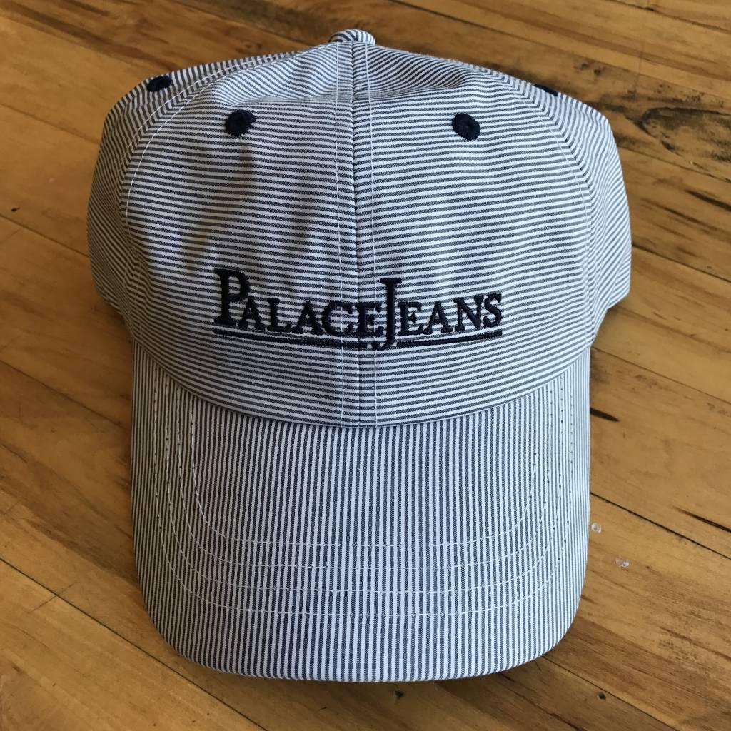 2ND BASE VINTAGE Palace Jeans Embroidered Logo 6 Panel  Strap Back Hat OS