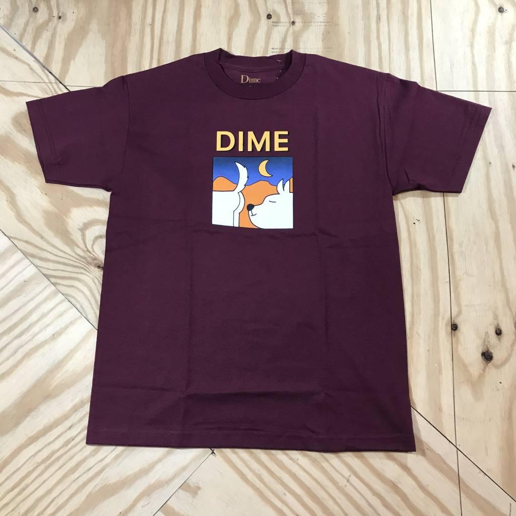 DIME Dime Soulmate T-Shirt Burgundy