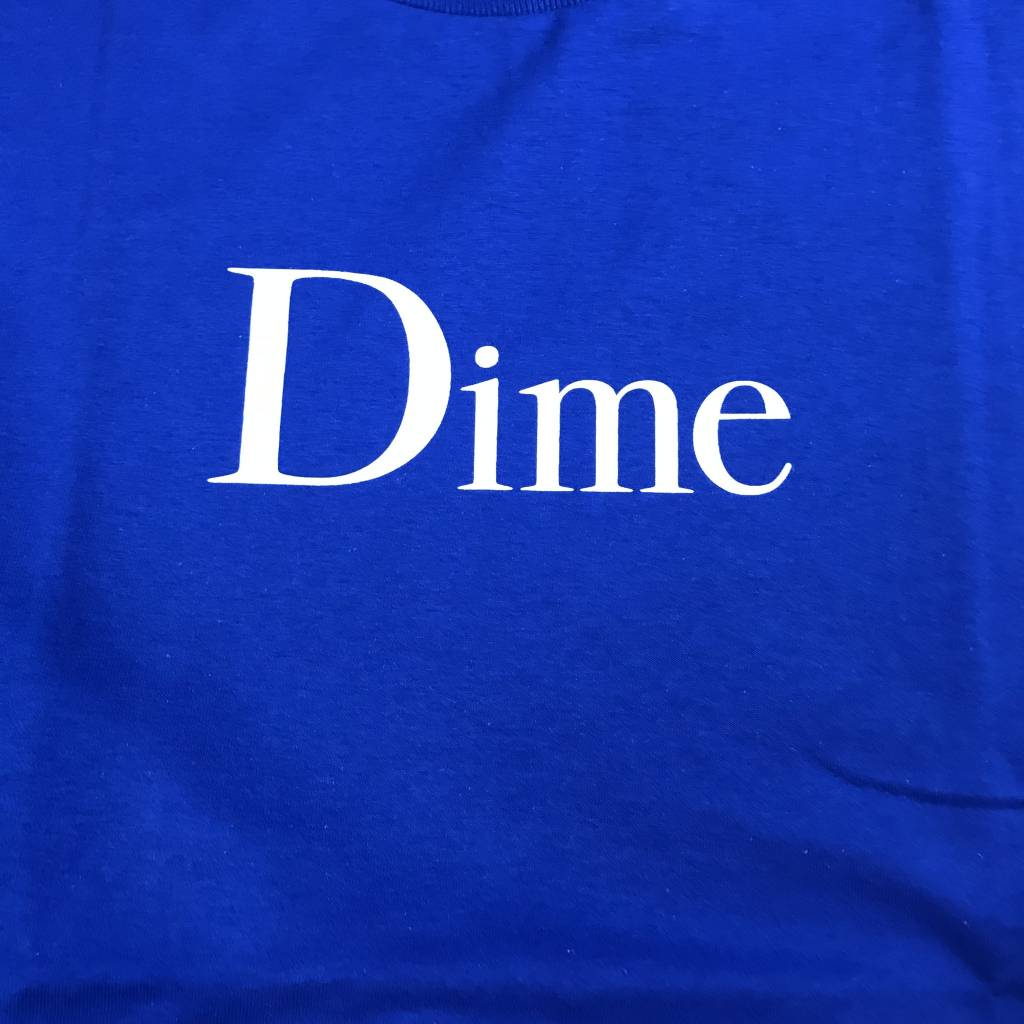 DIME Dime Classic Logo T-Shirt Royal Blue