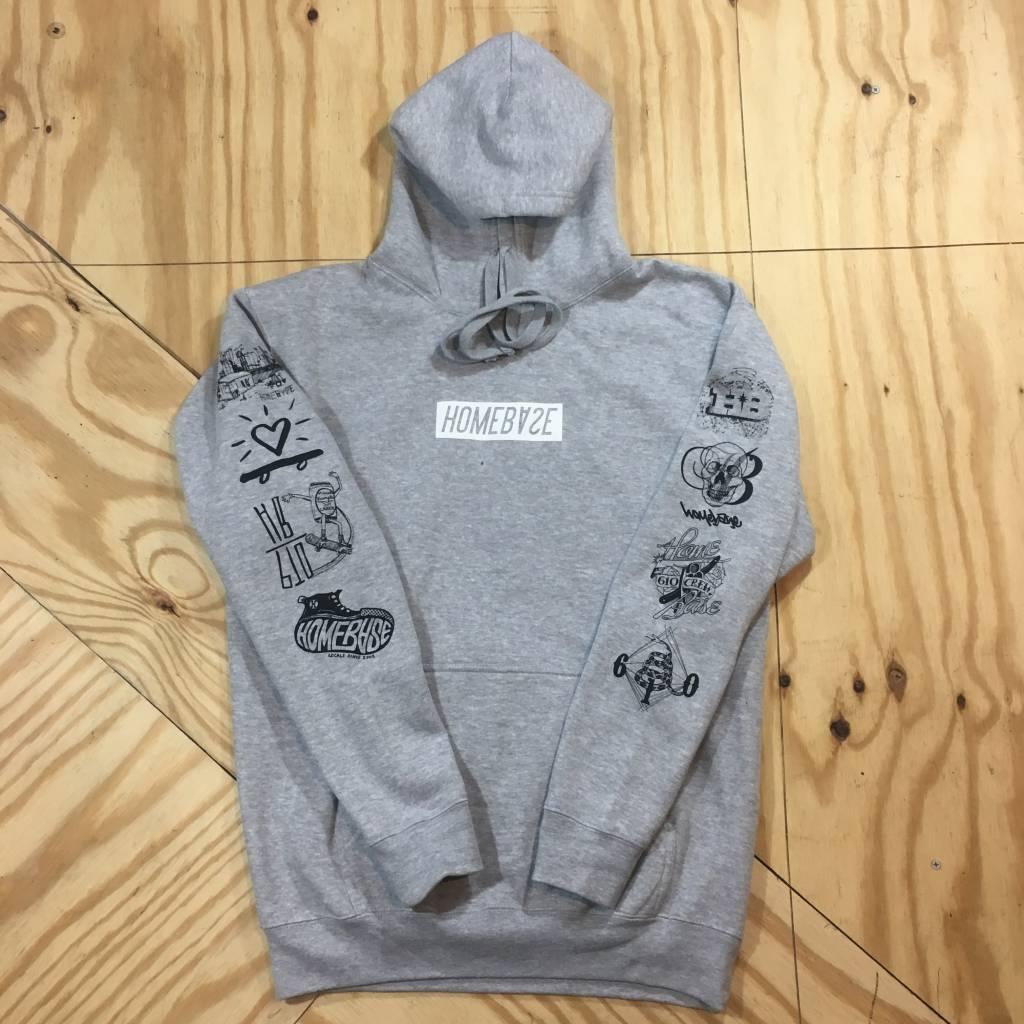 HOMEBASE SOFTGOODS The Sponsored Pullover Hoody Grey