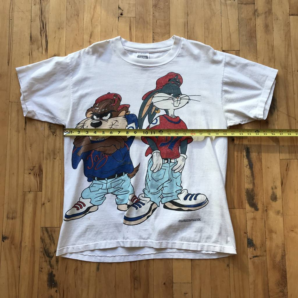 2ND BASE VINTAGE 1992 Looney Tunes Bugs and Taz Kriss Kross T-Shirt LG