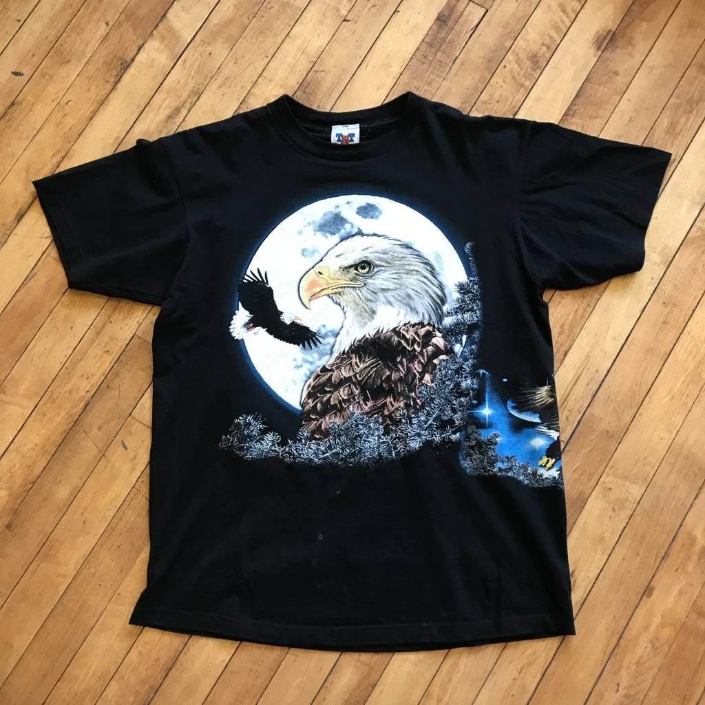 2ND BASE VINTAGE All Over Print Bald Eagle T-Shirt LG