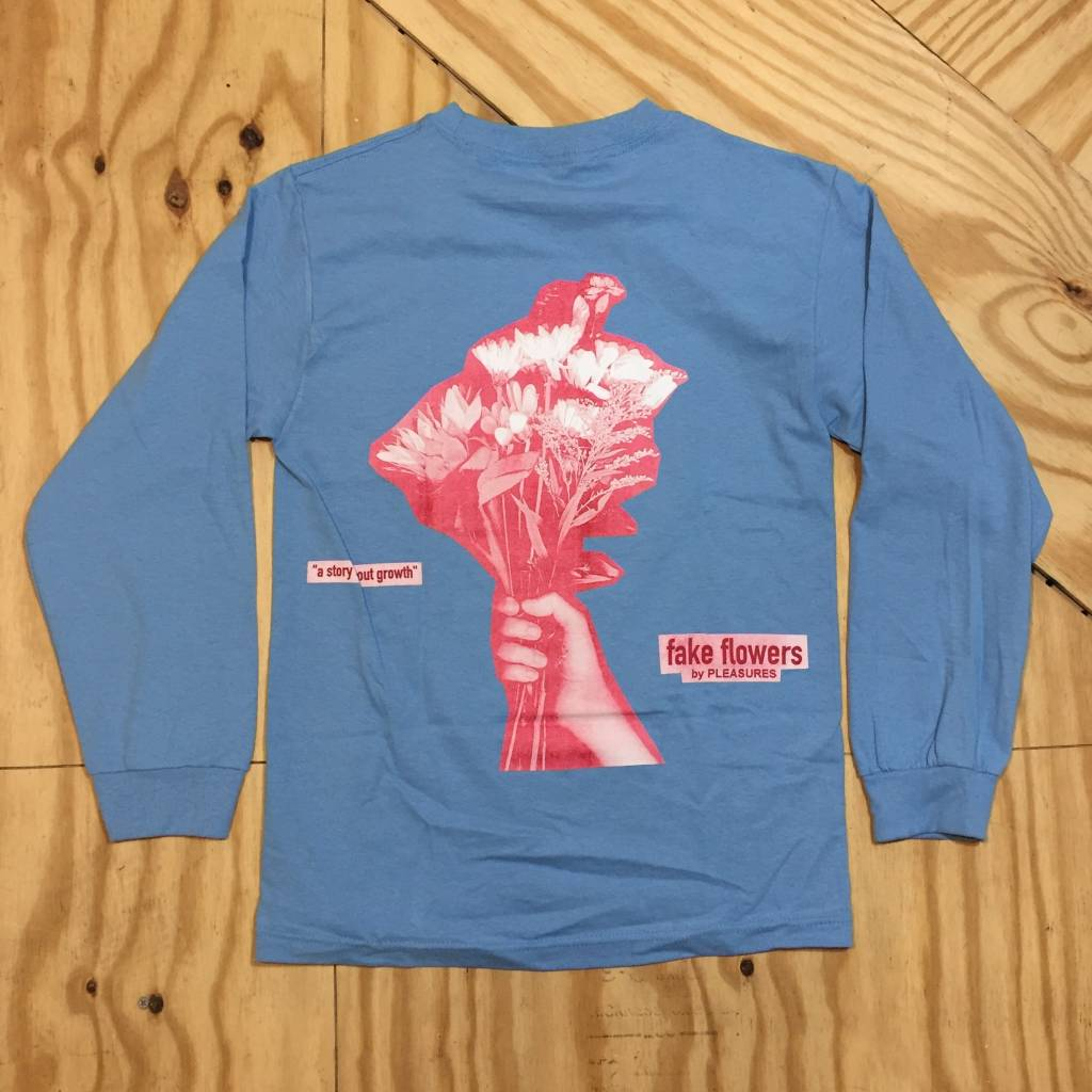 Pleasures Fake Flowers Ls T Shirt Carolina Blue Homebase610