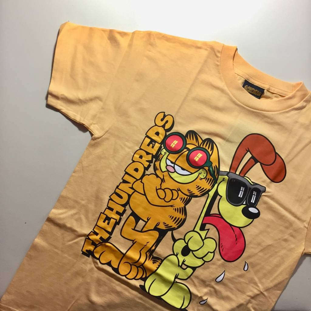 THE HUNDREDS Garfield Odie T-shirt Squash