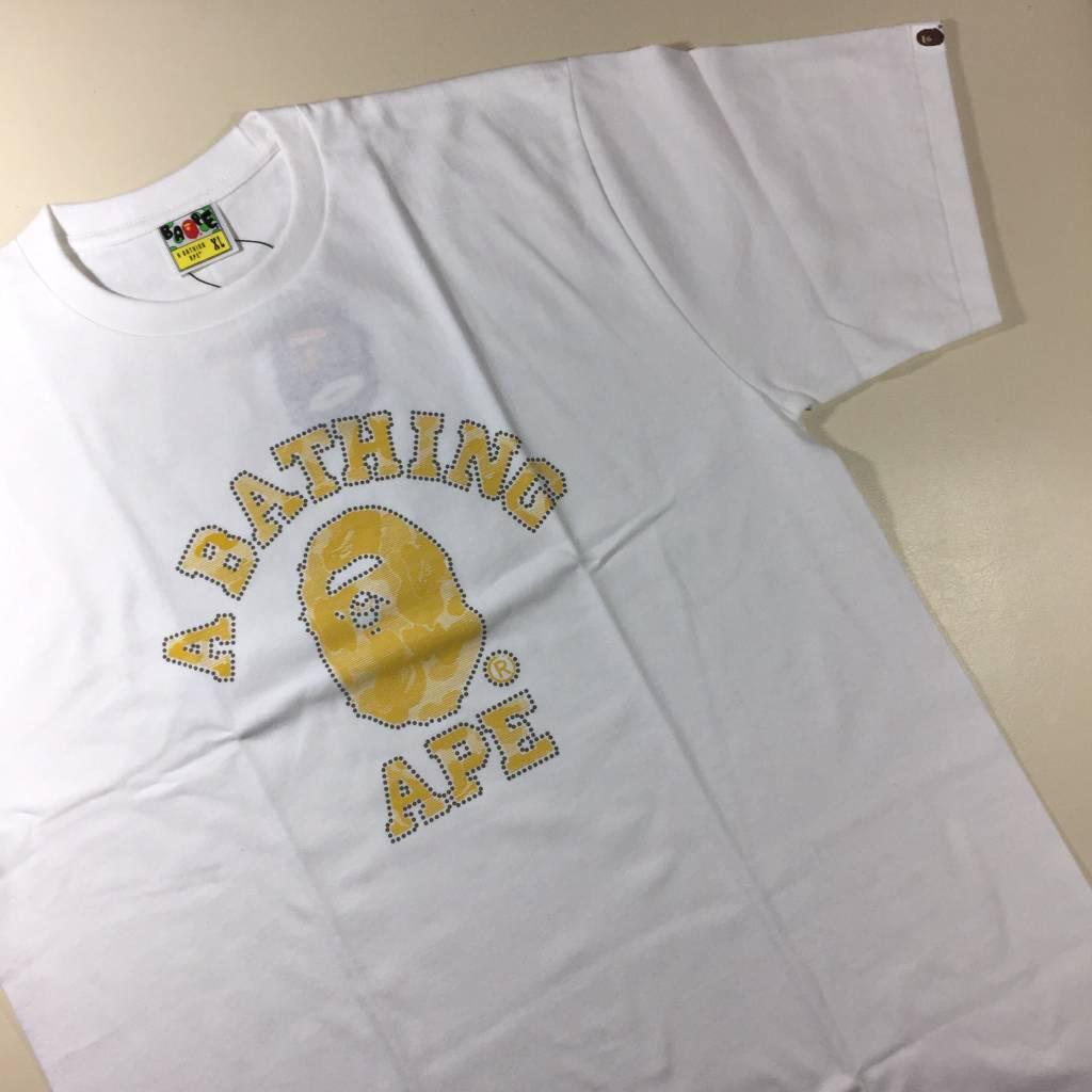 BAPE BAPE Yellow Reflective College T-Shirt XL