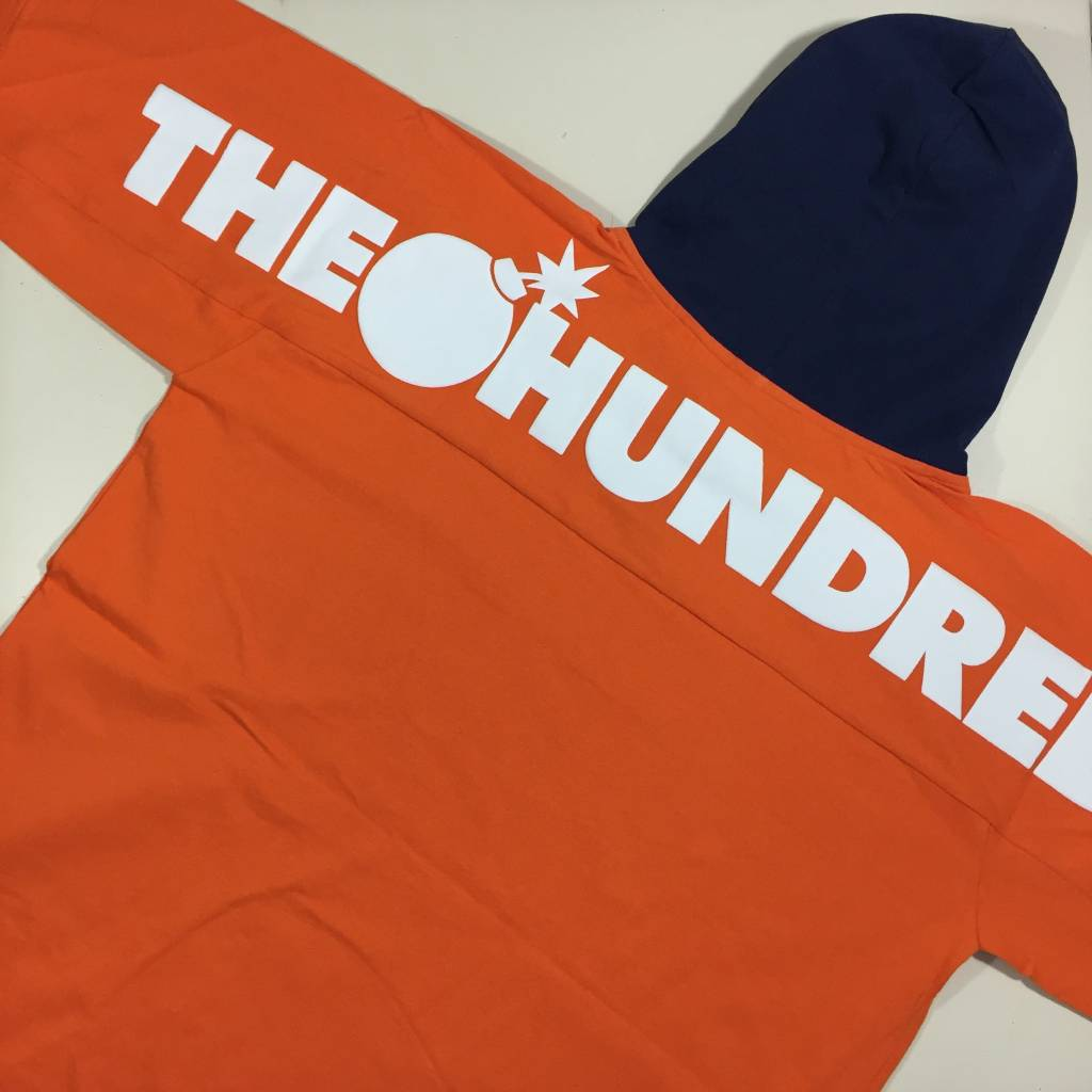 THE HUNDREDS Beach Hooded Longsleeve Shirt Orange