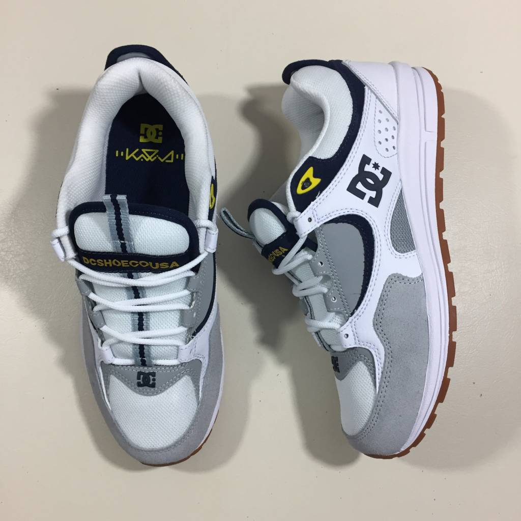 DC SKATE SHOE CO. Kalis Lite Shoe White / Grey / Yellow