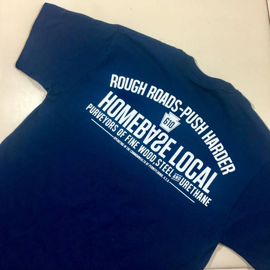 HOMEBASE SOFTGOODS Rough Roads T-shirt Navy