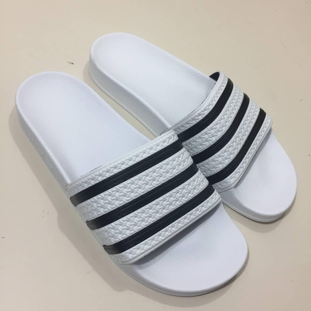 ADIDAS FOOTWEAR Adilette Slide Sandal White / Black