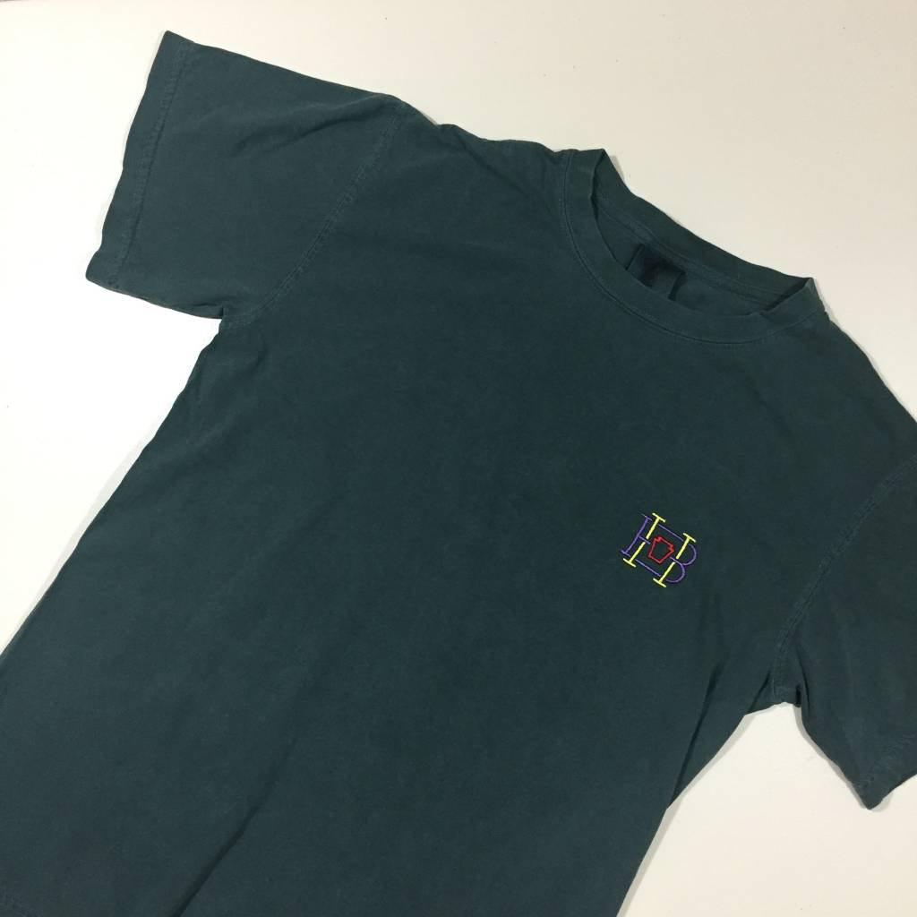 HOMEBASE SOFTGOODS Lock & Key Embroidered T-Shirt Washed Teal