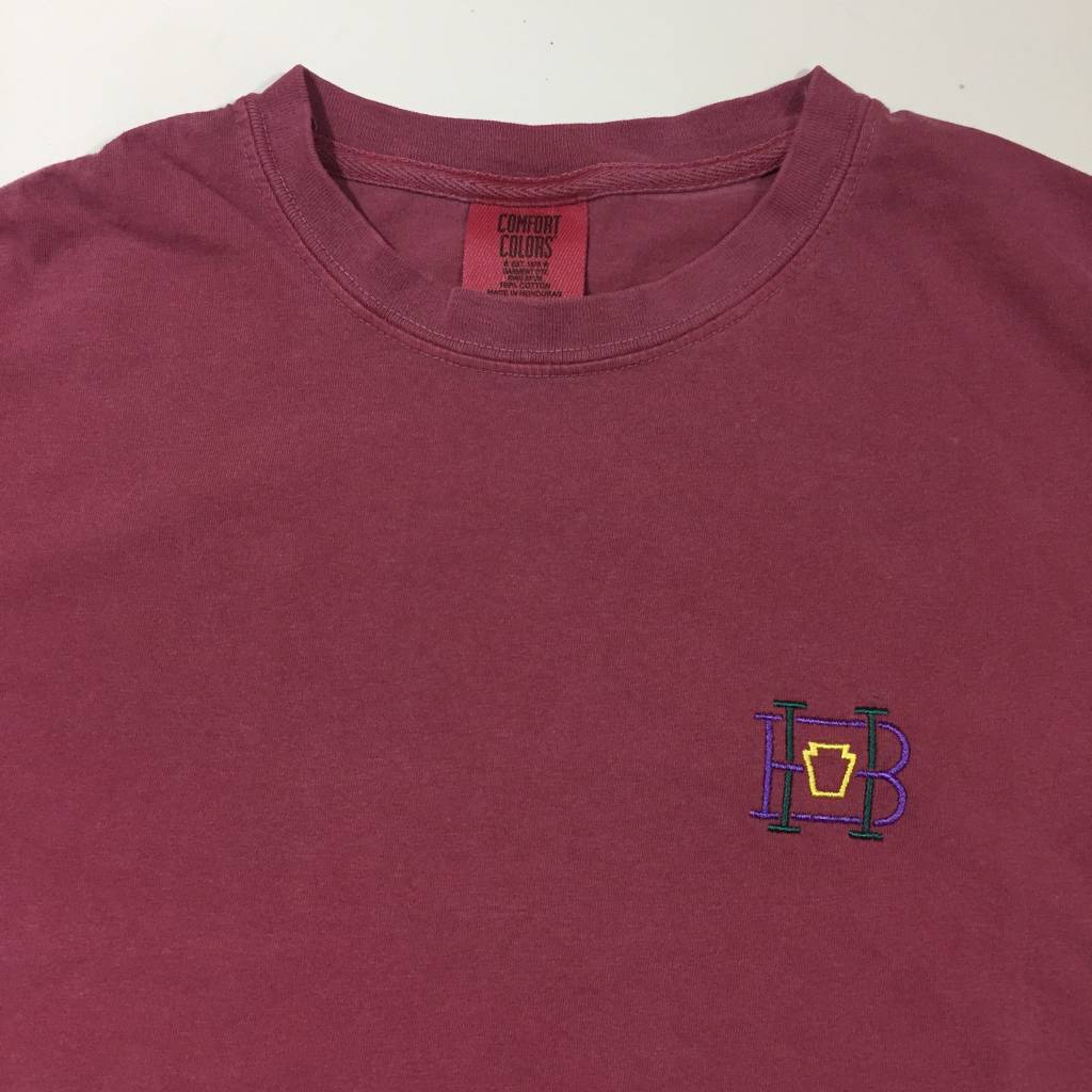 HOMEBASE SOFTGOODS Lock & Key Embroidered T-Shirt Washed Red