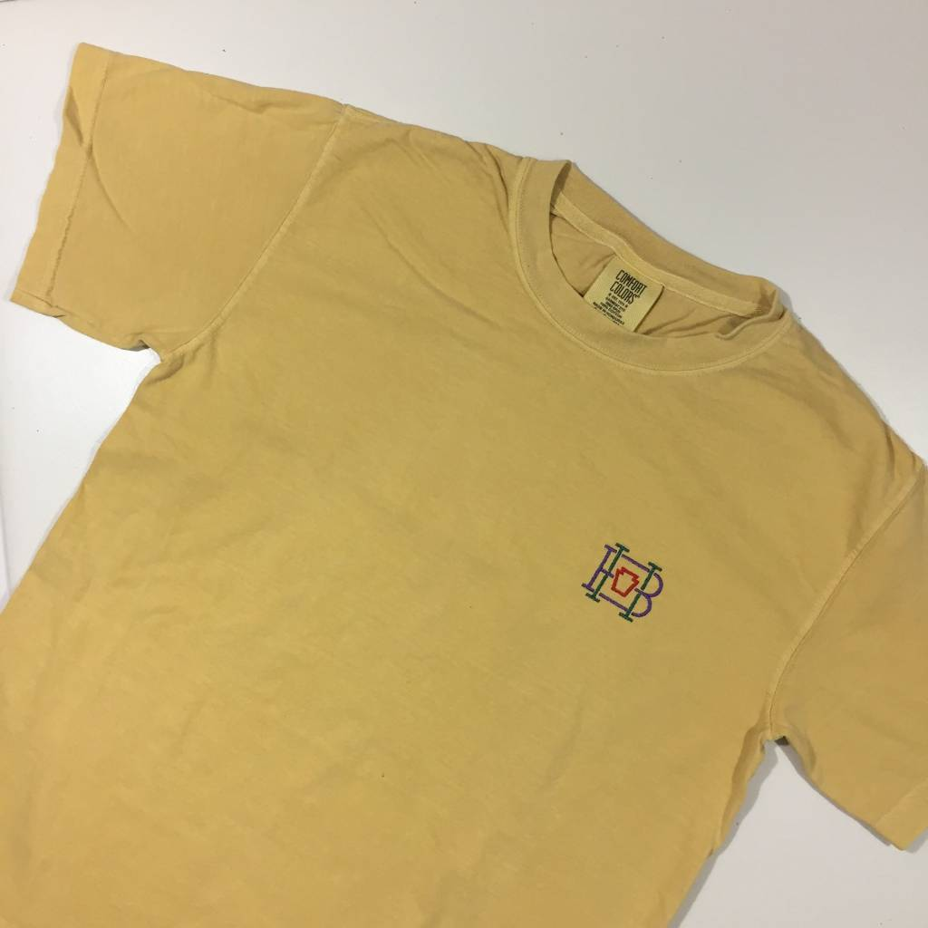 HOMEBASE SOFTGOODS Lock & Key Embroidered T-Shirt Washed Yellow