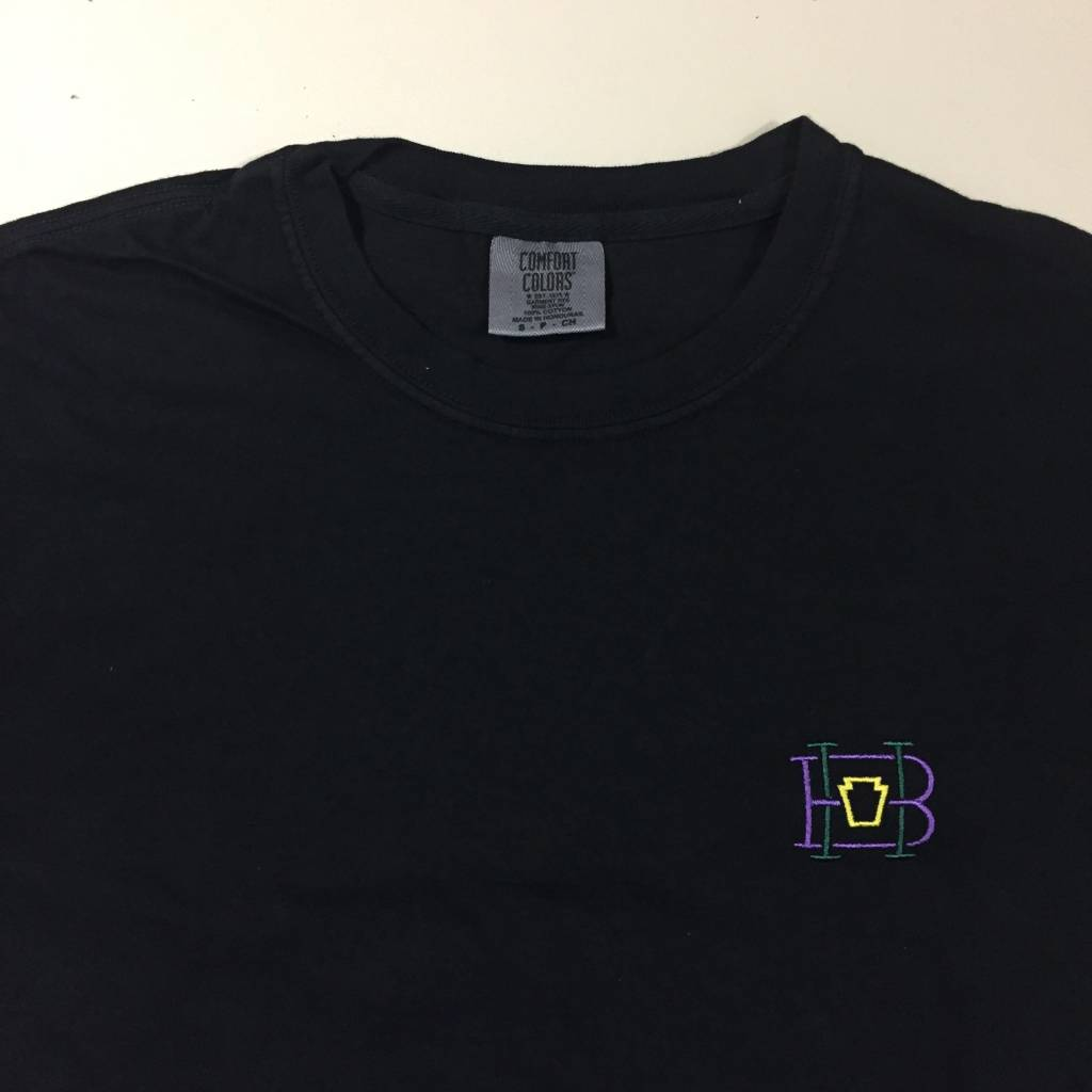 HOMEBASE SOFTGOODS Lock & Key Embroidered T-Shirt Washed Black
