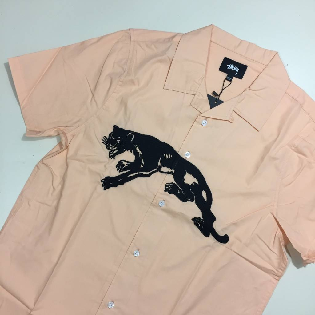 STUSSY Panther SS Woven Peach