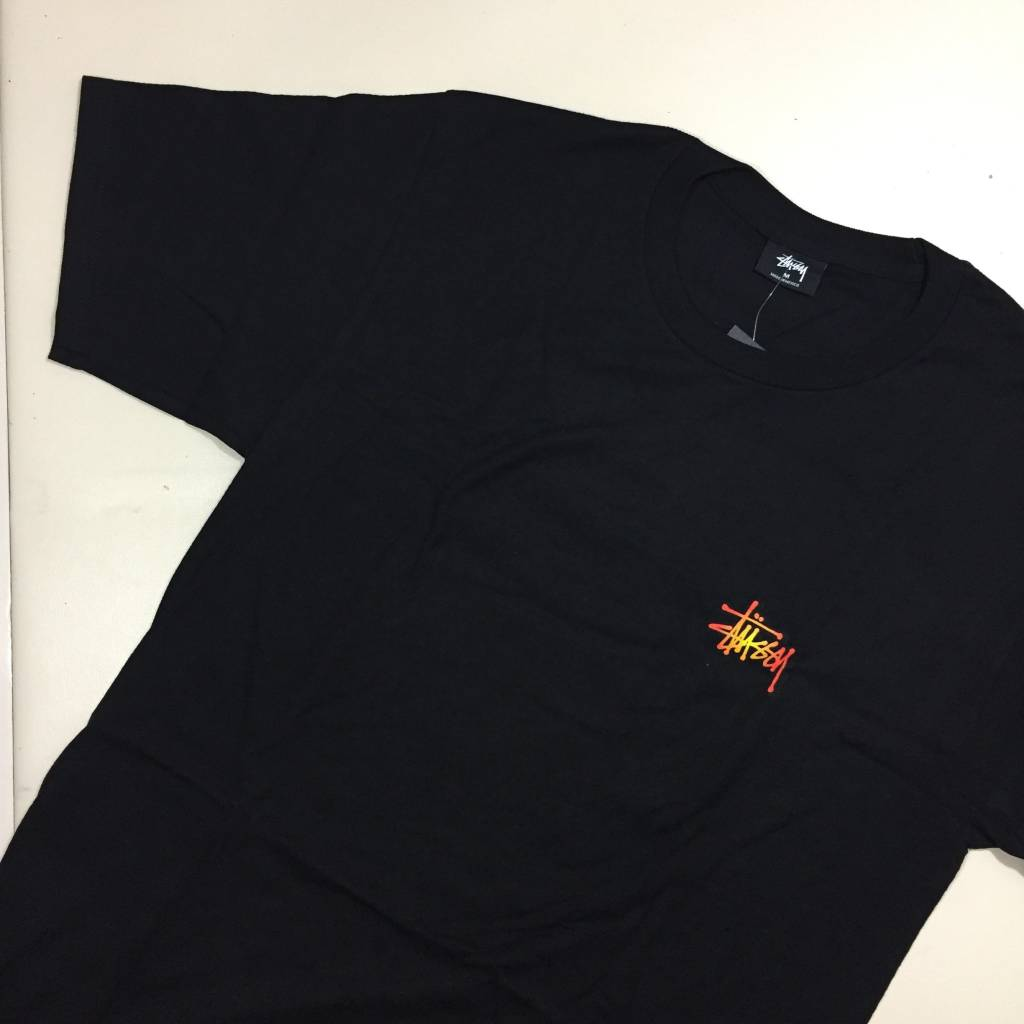 STUSSY Fireball T-Shirt Black