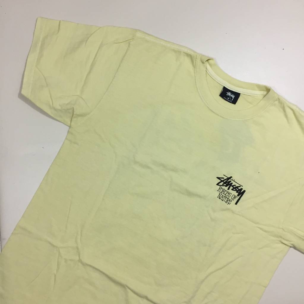 STUSSY Forces of Nature T-Shirt Pigment Yellow