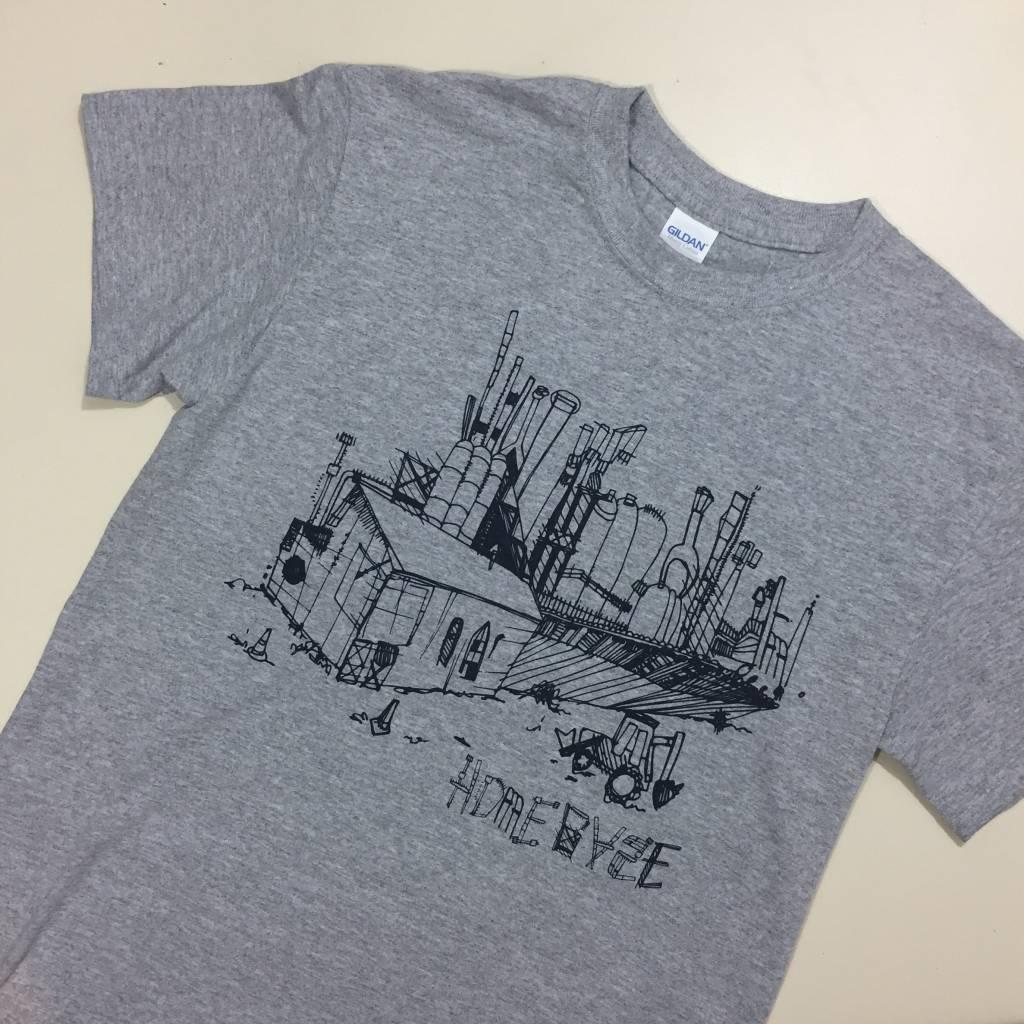 HOMEBASE SOFTGOODS Steel Sketch T-Shirt Grey/ Navy