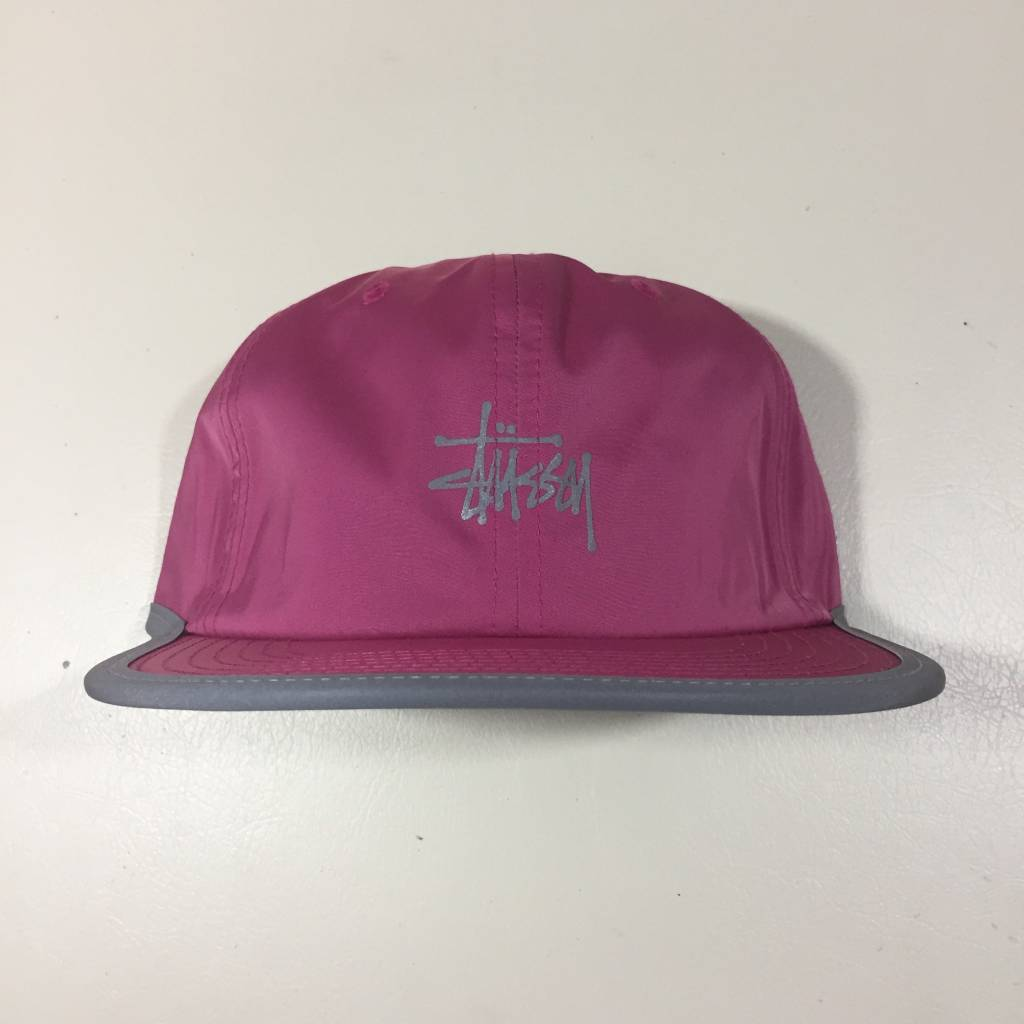 STUSSY Poly Memory Strapback Hat Pink