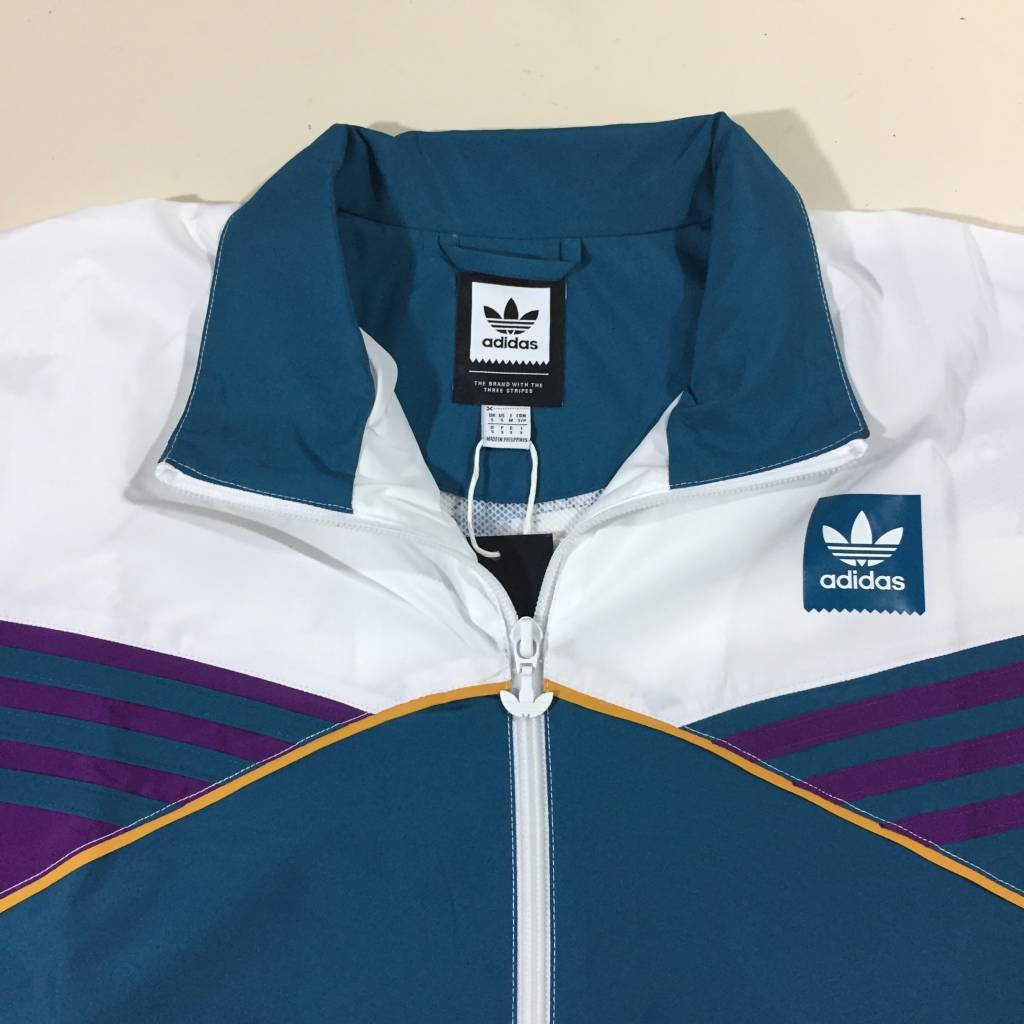 ADIDAS FOOTWEAR Court Track Jacket White / Teal / Navy