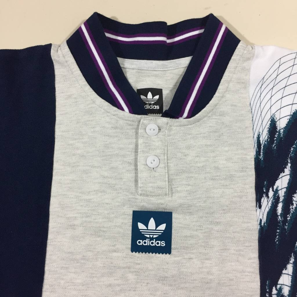 ADIDAS FOOTWEAR Tennis SS Jersey Heather / Navy